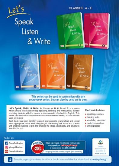 Let's Speak, Listen & Write 1-5
